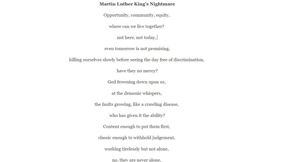 Martin Luther King's Nightmare
